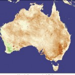 NASA image of 2005 drought parched Australia
