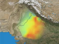 NASA's Grace satellites measured the depletion of groundwater in northwestern India between 2002 and 2008. Image credit: NASA/Trent Schindler and Matt Rodell
