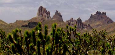 Castle Peaks at the Mojave National Preserve. Source: National Park Service