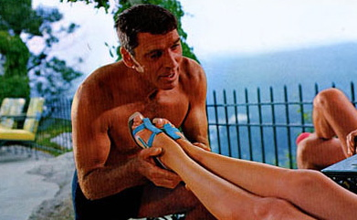 "Burt Lancaster in ""The Swimmer"""