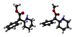 250px-Methylphenidate-enantiomers-3D-balls. Source: Wikipedia