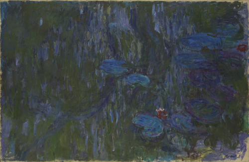 Claude Monet, Water Lilies, Reflections of Weeping Willows. On show at the Museum of Modern Art in New York