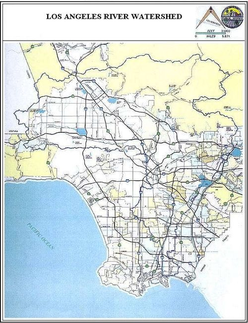 Los Angeles River watershed and storm drain system. Source: City of Los Angeles Department of Public Works