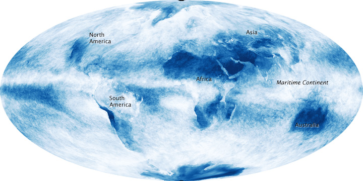 Cloud patterns reveal Mediterranean climate zones. Source: NASA