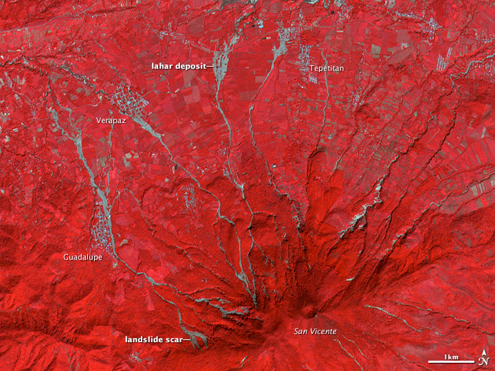 Volcan de San Vicente, El Salvador. Source: NASA Earth Observatory