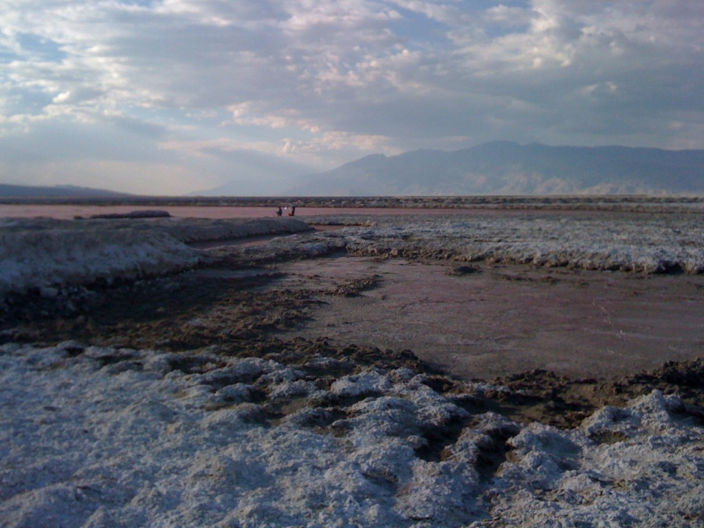 Mined salt flat on Owens Lake bed left after Los Angeles diverted the water. Photo: Emily Green Photo: Emily Green