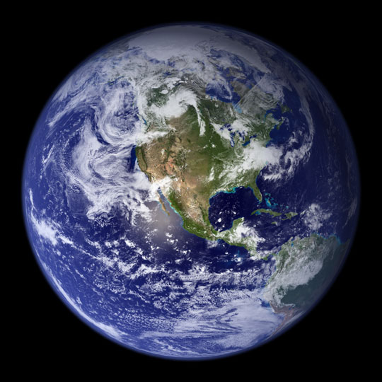 """The blue marble."" Source: NASA"