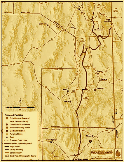 Southern Nevada Water Authority pipeline map. Source: SNWA