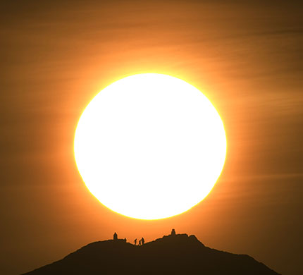 The ash storm over Europe has brought the kind of hot sunsets long familiar in Los Angeles. Click on this image of Arthur's Seat in Edinburgh by Scottish photographer Murdo MacLeod to be taken to a photo gallery of ashen sunsets over the United Kingdom and Ireland. The Guardian has a photo gallery.
