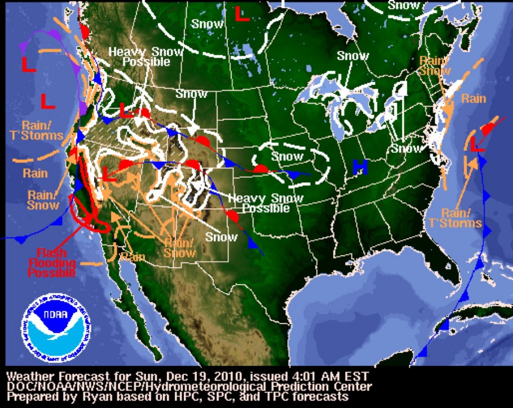 Map Of California Weather.The Week That Was 12 12 18 2010 Chance Of Rain