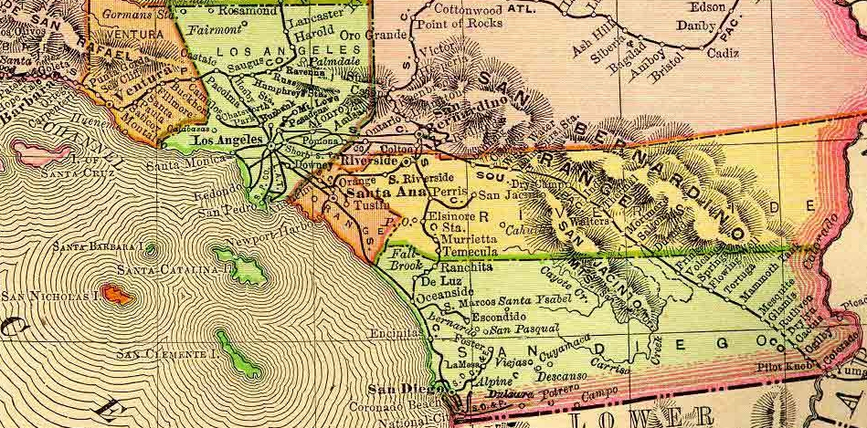 Topographical Map Of Southern California Topographic Map - Los angeles topographic map