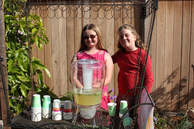 Mar Vista Green Garden lemonade stall. Photo: Emily Green