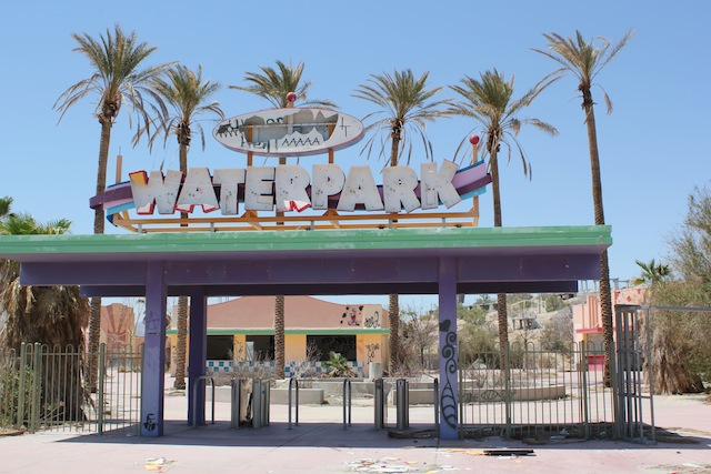 """Rock-a-Hoola Waterpark"" near Barstow. Photo: Emily Green"