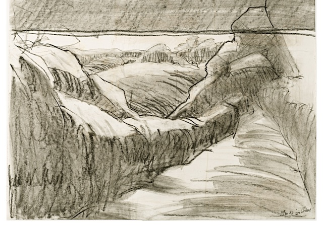 1967.Strange Landforms.charcoal on paper.DC.Tri-Co.alternate