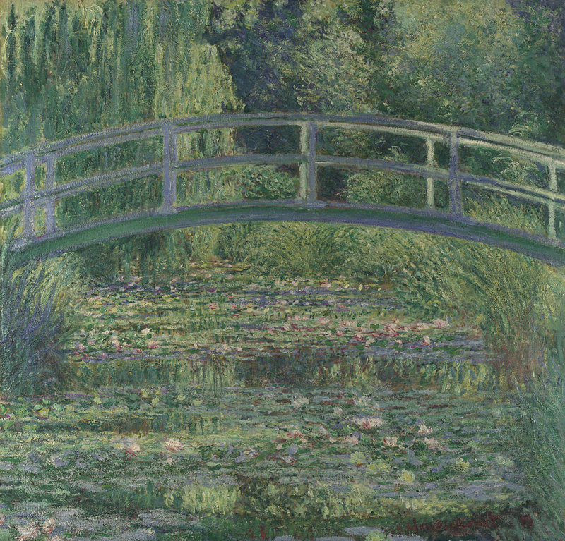 Claude Monet, 1840 - 1926 The Water-Lily Pond 1899 Oil on canvas, 88.3 x 93.1 cm Bought, 1927 NG4240 http://www.nationalgallery.org.uk/paintings/NG4240
