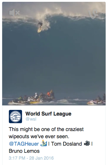 World Surf League Tweet