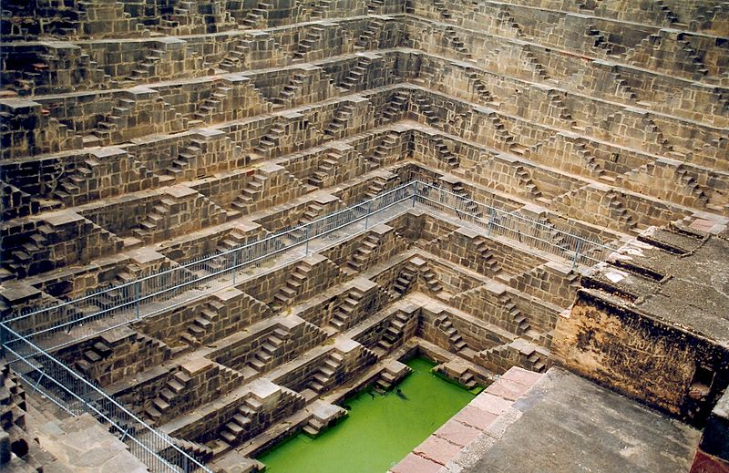 Chand Baori step well near Jaipurin the Indian state of Rajasthan. Photo: Doron/Wikipedia