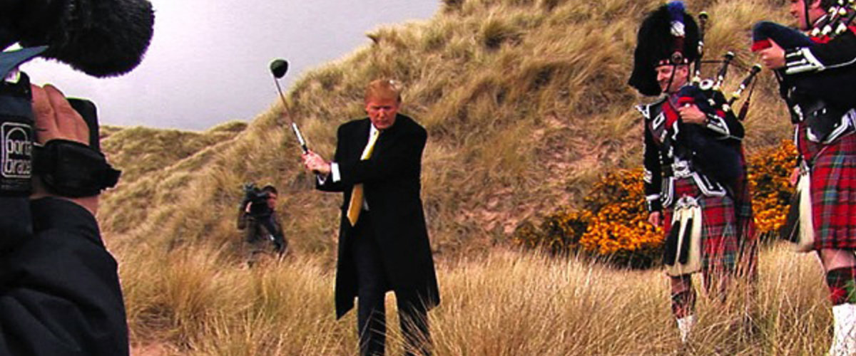 "For more on the impact of Trump International Golf Links in Aberdeenshire and the Munro family, click on the movie still to be taken to Roger Ebert's review of the British documentary ""You've been Trumped."""