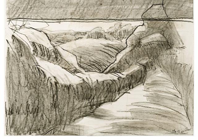 1967.Strange Landforms.charcoal on paper.DC.Tri-Co.alternate