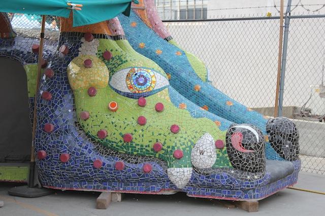 Dragon slide under construction