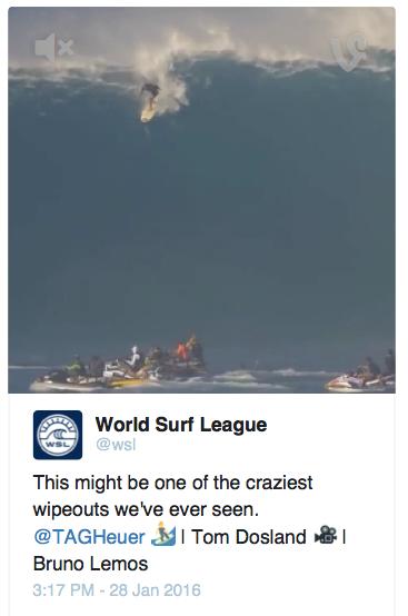 World Surf League Tweet
