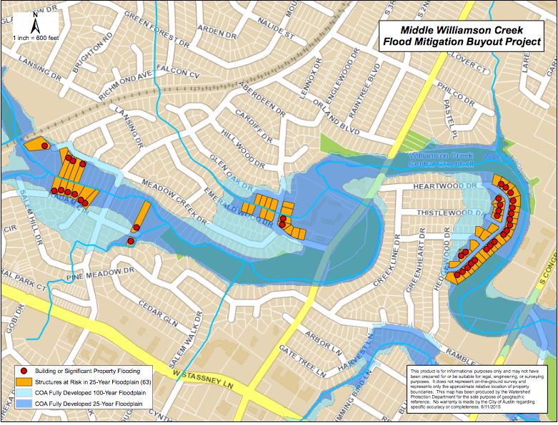 Williamson Creek Flood Mitigation Buyout Project