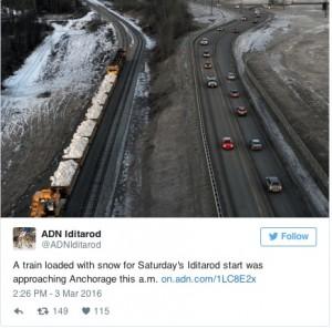 Alaska Daily News Iditarod Twitter