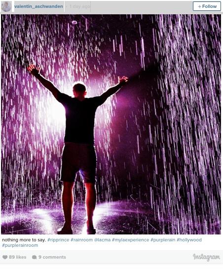 (purple) Rain Room at LACMA